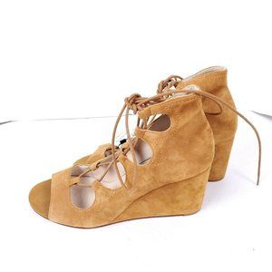 NWT $119 ZARA COLLECTION Size 40 9 Brown Wedges